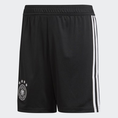 Shorts Germany Home Replica Negro Niño Fútbol