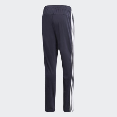 Men Training Blue Essentials 3-Stripes Tapered Open Hem Pants