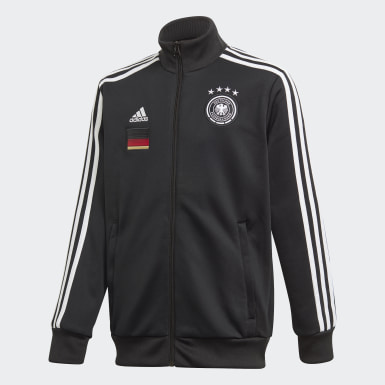 Boys Football Black Germany 3-Stripes Track Jacket