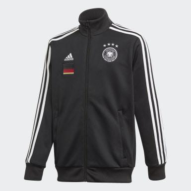 Boys Fodbold Sort Germany 3-Stripes Track jakke