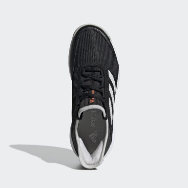 Kids Tennis Black Adizero Club Shoes