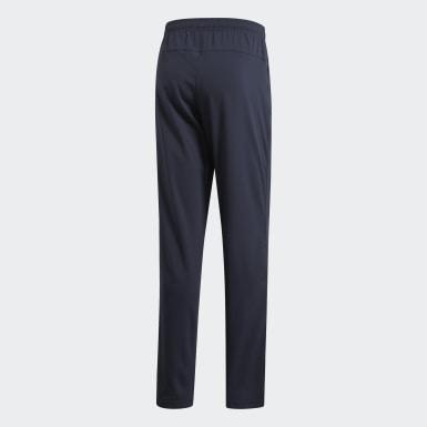 Mænd Træning Blå Essentials Plain Open Hem Stanford bukser