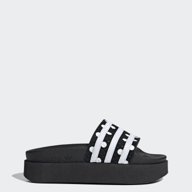 Women Originals Black Adilette Bold Slides