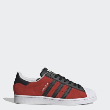 Originals สีแดง รองเท้า Superstar