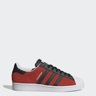 Men's Originals Red Superstar Shoes