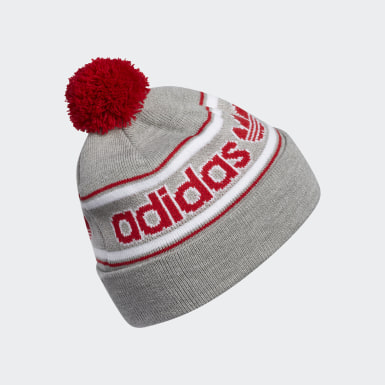 Men's Originals Grey Pom Jacquard Beanie