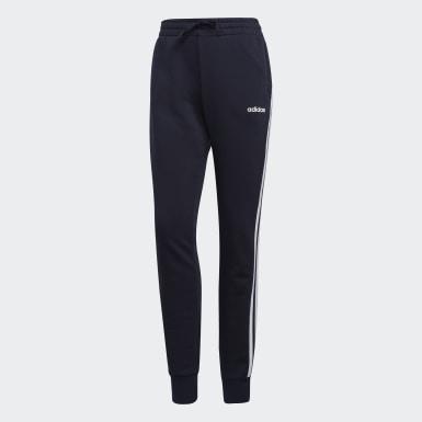 Women Lifestyle Blue Essentials 3-Stripes Pants
