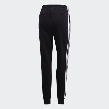 Women Athletics Black Essentials 3-Stripes Pants