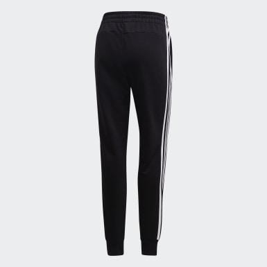 Ženy Athletics čierna Tepláky Essentials 3-Stripes