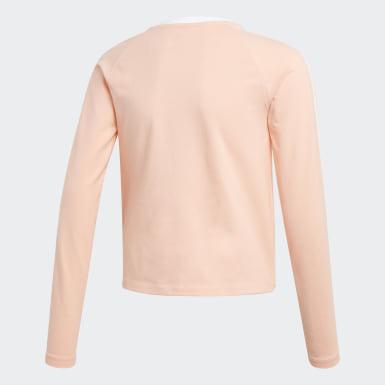 розовый Укороченный лонгслив 3-Stripes