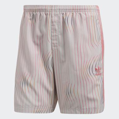 Warped Stripe Swim Shorts