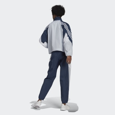 Women Athletics Blue adidas Sportswear Game-Time Woven Track Suit