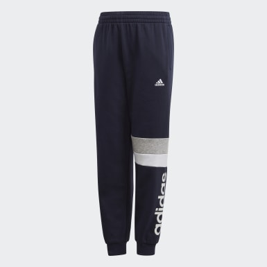 Boys Lifestyle Blue Linear Colorblock Pants