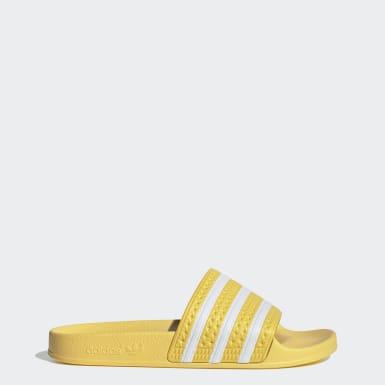Chinelos Adilette Amarelo Mulher Originals
