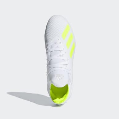 calzado de fútbol X 18.3 Terreno Firme Blanco Niño Fútbol