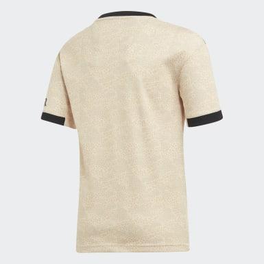 бежевый Гостевая игровая футболка Манчестер Юнайтед