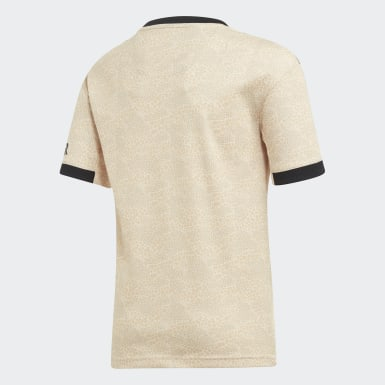 Youth Soccer Beige Manchester United Away Jersey