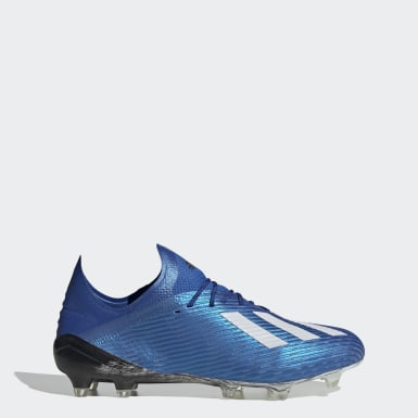 Bota de fútbol X 19.1 césped natural seco Azul Mujer Fútbol