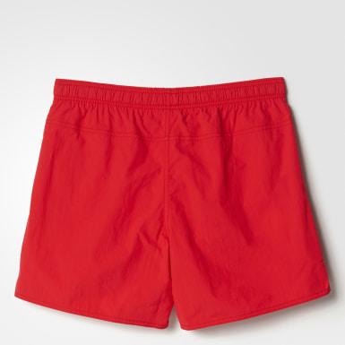 красный Пляжные шорты Solid Water