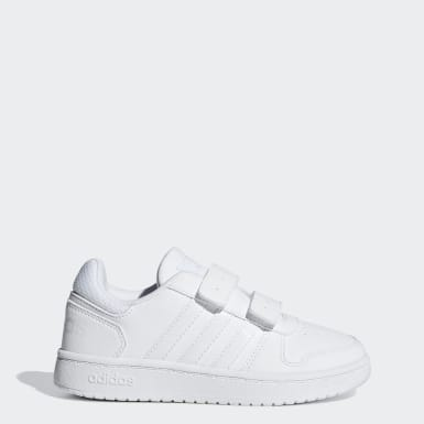 Tenis Hoops 2.0 (UNISEX) Blanco Niño Essentials