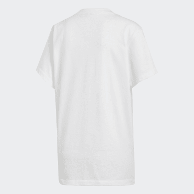 Women's Originals White Boyfriend Trefoil Tee