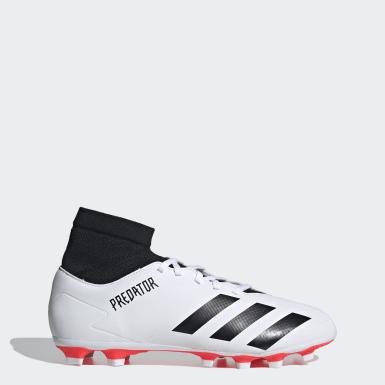 ผู้ชาย ฟุตบอล สีขาว รองเท้าฟุตบอล Predator 20.4 Flexible Ground