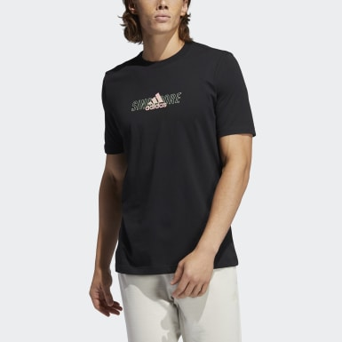 Athletics Black Singapore City Lines Tee