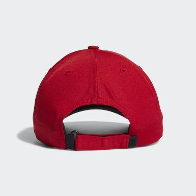ผู้ชาย กอล์ฟ สีแดง หมวก Performance