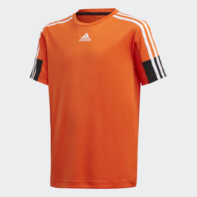 T-shirt 3-Stripes AEROREADY Must Haves Laranja Rapazes Treino