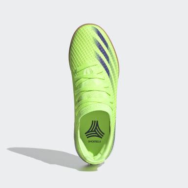 Barn Futsal Grön X Ghosted.3 Indoor Boots