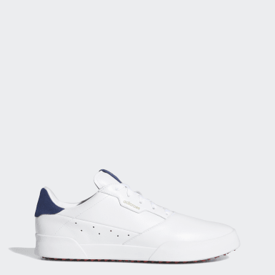 Herr Golf Vit Adicross Retro Golf Shoes