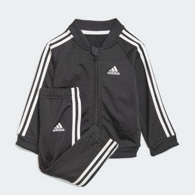Kinder Athletics 3-Streifen Tricot Trainingsanzug Schwarz