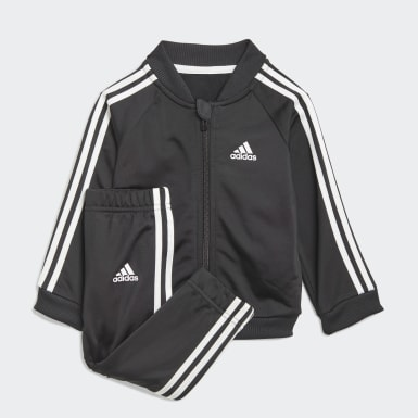 Tuta 3-Stripes Tricot Nero Bambini Athletics