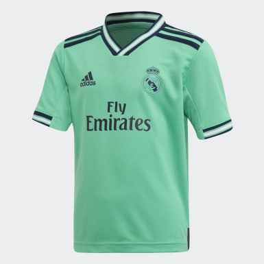 Kids Football Green Real Madrid Third Mini Kit