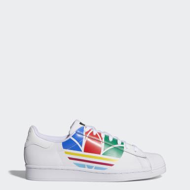 Originals สีขาว รองเท้า Superstar Pure