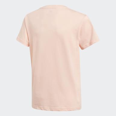 розовый Футболка Adicolor 3D Trefoil