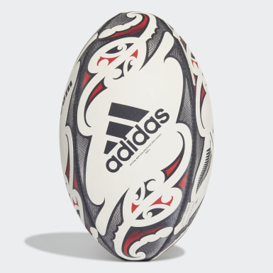 Men Rugby White New Zealand Replica Rugby Ball