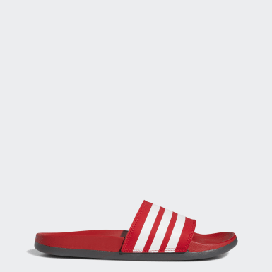 Men Swimming Red Adilette Comfort Slides
