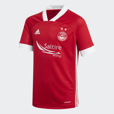 Boys Football Red Aberdeen FC Home Jersey