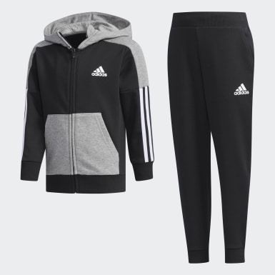 Boys Training Black Fitted Track Suit
