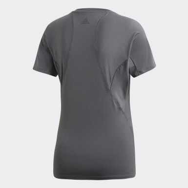 Women Training Grey Logo T-Shirt
