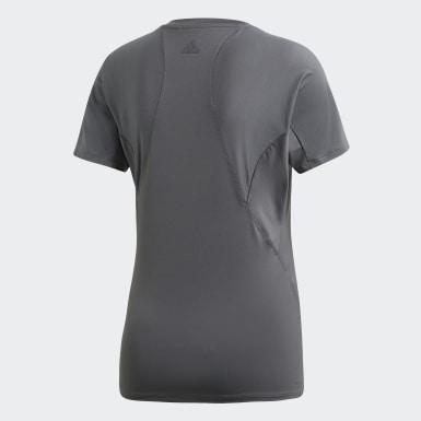 T-shirt Logo Grigio Donna Training