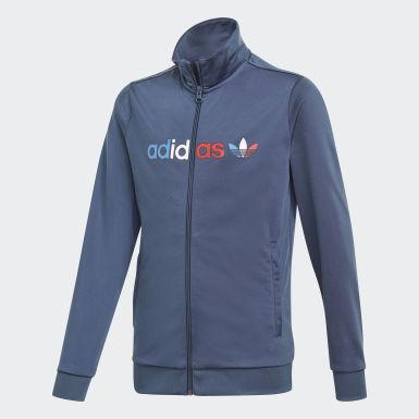 Børn Originals Blå Adicolor træningsjakke