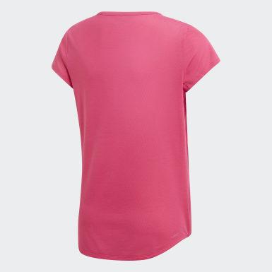 Genç Training Pembe Training Brand Tişört
