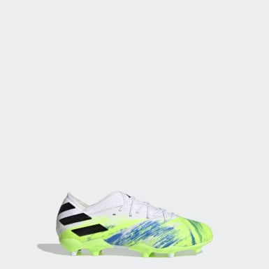 Kids Football White Nemeziz 19.1 Firm Ground Boots