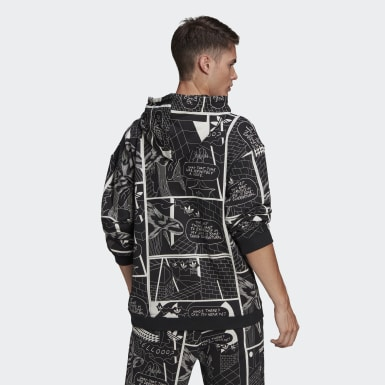 Men's Originals Black R.Y.V. Graphic Hoodie