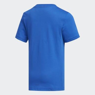 Camiseta Cotton Azul Niño Yoga