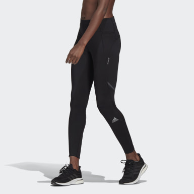 Women Running Black How We Do Long Tights