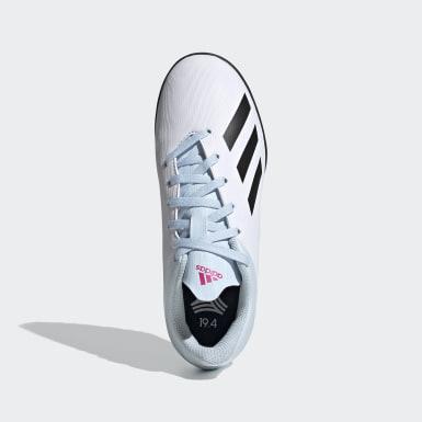 Calzado de Fútbol X 19.4 Pasto Artificial Blanco Niño Fútbol