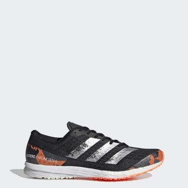 Men Running Black Adizero Takumi Sen 6 Shoes